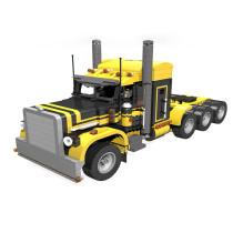 MOC-2980 Peterbilt 379 Semi Truck 1:18 in yellow and black