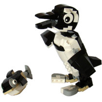 MOC-1867 31021: Penguin and Fish