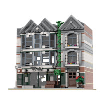 MOC-24879 Auto-Moto Parts & Accessories (10264 Corner Garage Alternate Model Modular)