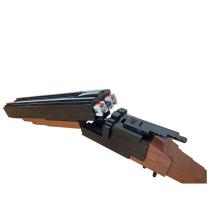 MOC-48103 Double barrel shotgun brick shooting and shell ejecting