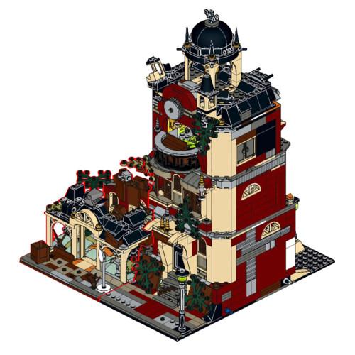 MOC-43639 Modular Haunted High School