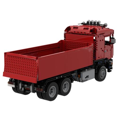 MOC-38781 Red Scania Dump Truck