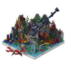 MOC-46326 Coral Reef + 31088 Sea Dinosaur Alternative Build