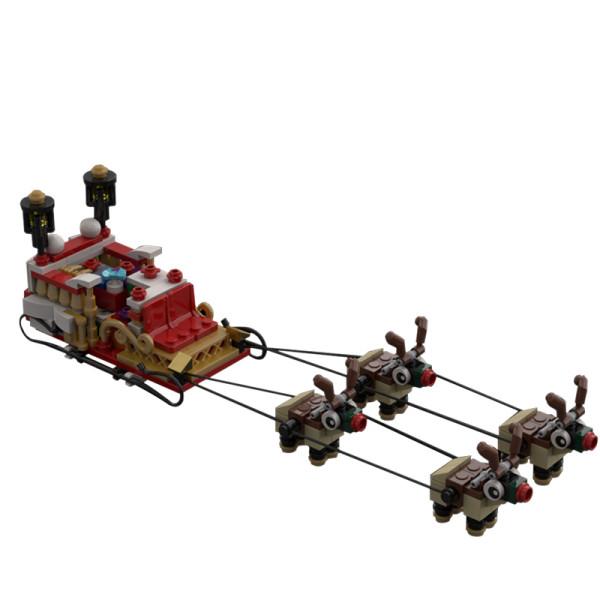 MOC-30339 Santa's sleigh with 4 reindeer