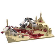 MOC-54880 Battle of Geonsis with LAAT gunship, LAAT dropship and AT-TE