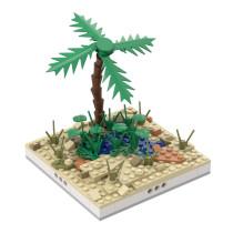 MOC-32575 Desert Oasis for a Modular Desert village