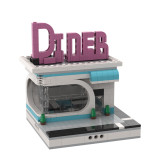 MOC-33895 Diner for a Modular City Alternative Build of LEGO Set 10260-1