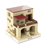 MOC-33256 Desert House #5 for a Modular Desert village