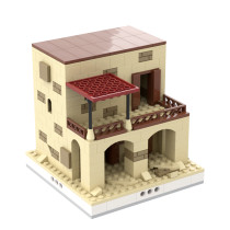 MOC-33256 Desert House #5 for a Modular Desert village