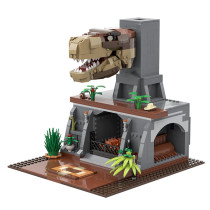 MOC-46700 T-Rex Fireplace Alternative Build of LEGO Set 75936-1