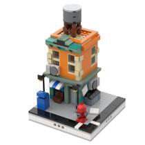MOC-32223 Neighborhood building with shop for Modular City