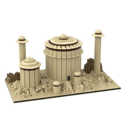 MOC-56496 jabba's palace for a Modular Tatooine