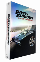 Fast & Furious 8 Movie 1-8 Collection Box Set 9 Disc