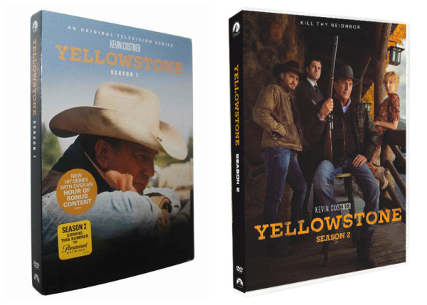 Yellowstone The Complete Seasons 1-2 DVD Box Set 8 Disc