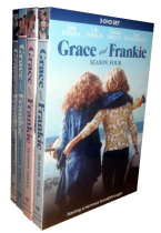 Grace and Frankie The Complete Seasons 1-4 DVD Box Set 12 Disc Free Shipping