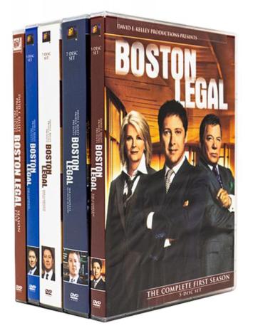 Boston Legal Complete Series Seasons 1-5 DVD Box Set 28 Discs