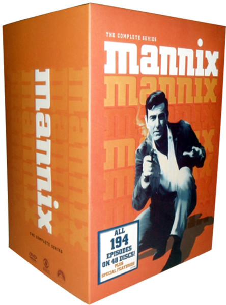 Mannix The Complete 1970s Seasons 1-8 DVD Box Set 48 Discs