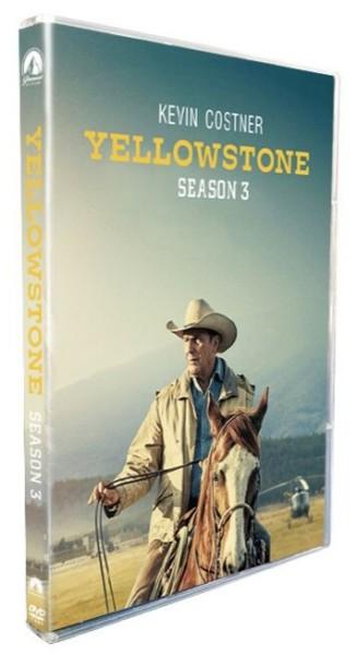 Yellowstone The Complete Season 3  DVD Box Set 4 Disc