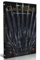 Game of Thrones The Complete Season 8 DVD Box Set 3 Disc Free Shipping