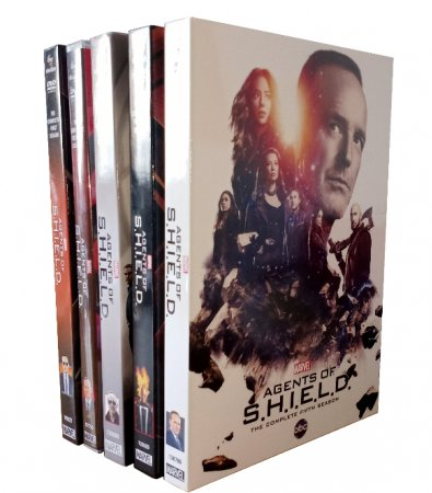Marvel's Agents Of S.H.I.E.L.D. Seasons 1-5 DVD 25 Disc Box Set Free Shipping