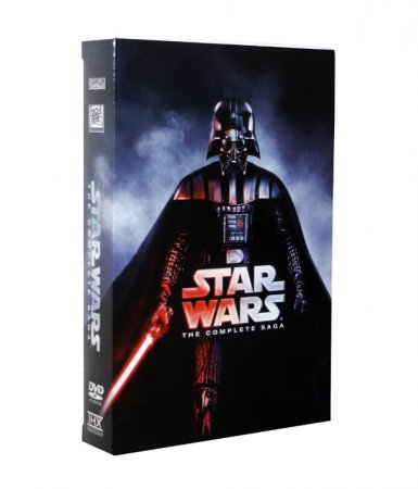 Star Wars The Complete Saga Episodes I-VI 12 Disc Box Set Free Shipping