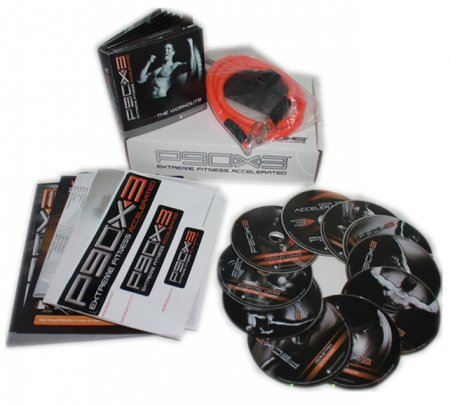 P90X3 Ultimate Kit 10 DVD Workout + Resistance Band Free Shipping