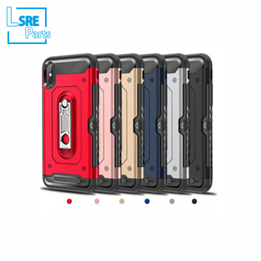 CASE FOR IPHONE SAMSUNG XR MAX S9  360 the carbon fiber(Material PC+TPU+vehicle-mounted+support) 50pcs