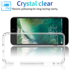Transparent clear case the front and the back for iPhone Samsung LG , support wireless charger, PC+TPU, longer life 50pcs