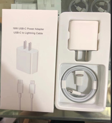 Replacement for 18W fast charger adapter and faster USB -C cable,  ORI 100pcs