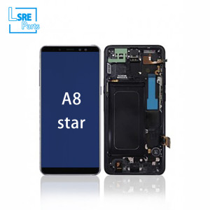 Replacement for Samsung A8 star LCD OLED Display screen 5pcs