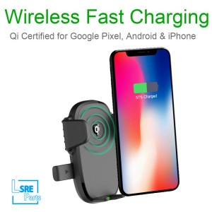 Car holder with wireless charger,15W , amazon hot selling,10pcs
