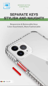 TRANSPARENT  Shock Absorption case for iPhone Samsung ,100pcs, Mixed color, Free shipping