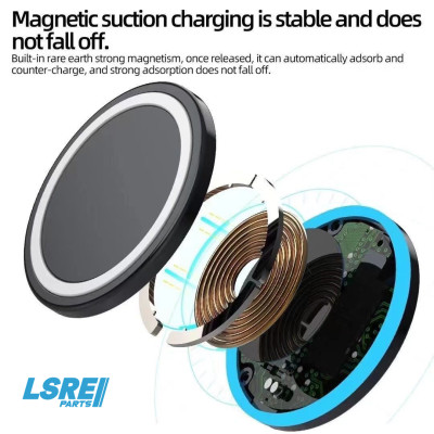 Portable  Folding design 15W quick charging Magnetic suction 100pcs