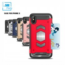 CASE FOR IPHONE SAMSUNG XR MAX S9  360 hy(PC+TPU+vehicle-mounted+Card) 50pcs