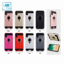 CASE FOR IPHONE SAMSUNG XR MAX S9 3DRing(TPU+PC+vehicle-mounted+Ring) 50pcs