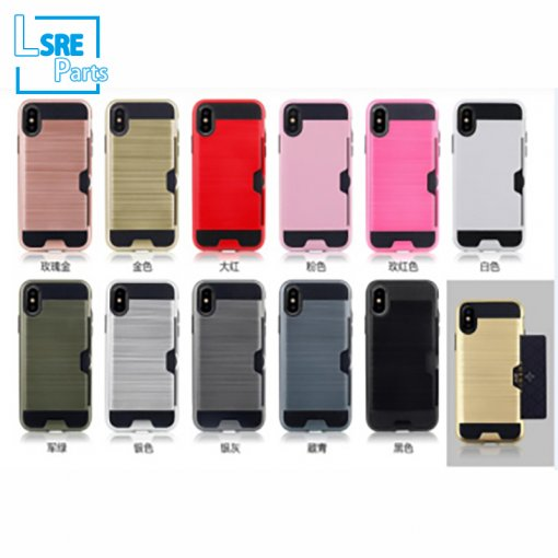 CASE FOR IPHONE SAMSUNG XR MAX S9 drawbench plug-in card(PC+TPU+vehicle-mounted+support) 50pcs