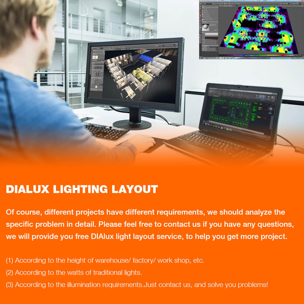 dialux lighting layout
