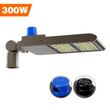 Parking Lot Light, Area / Shoebox / Street / Pole Light 300 Watt,39,000 Lumens,1200W Metal Halide Equal,Photocell Sensor,Slip-Fitter Mountings,5700K Daylight,Wholesaling And Retailing