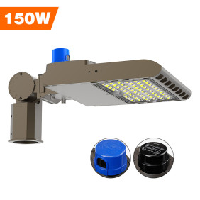 Parking Lot Light,  Area / Shoebox / Street / Pole Light 150 Watt,20,250 Lumens,600W Metal Halide Equal,Photocell Sensor,Slip-Fitter Mountings,5700K Daylight, Wholesaling And Retailing