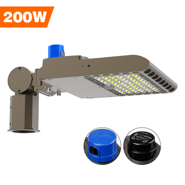 Parking Lot Light, Area / Shoebox / Street / Pole Light 200 Watt,26,000 Lumens,800W Metal Halide Equal,Photocell Sensor,Slip-Fitter Mountings,5700K Daylight,Wholesaling And Retailing