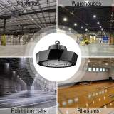 Led High Bay Lights,200 watt,150lm/w,30000 Lumens,1000W Metal Halide Equal,US Plug 8ft Power Cord,5000K