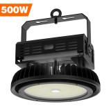 LED High Bay Light, 500W UFO Hi-Bay Lightingfor Garage Warehouse Black
