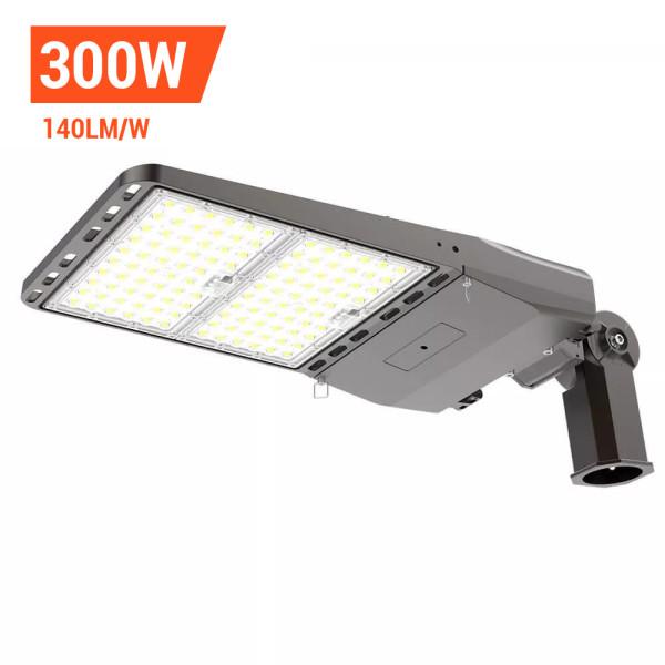 Parking Lot Lights, LED Area Light 300 Watt,42000 Lumens,1200W Metal Halide Equal,Slipfitter Mount Brackets,Wholesaling And Retailing
