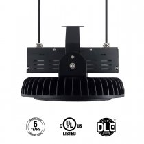 LED High Bay Light,300W UFO Hi-Bay Lighting for Garage Warehouse Black