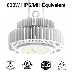 LED High Bay Lighting, UFO High Bay Light 200W for Area Garage Warehouse Workshop White