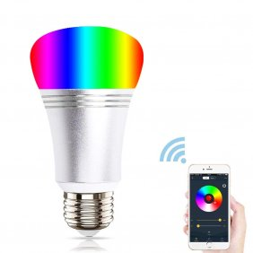 WiFi Smart Light Bulb Compatible by iPhone iOS & Android Smartphone