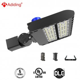 Led Parking Lot Lighting 150 Watt, Street Area Shoebox Pole Light with Photocell Sensor 3-Type Mountings