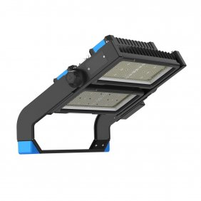 LED Flood Light Fixture Outdoor 500 Watt, Super Bright Stadium Gym Lighting 30° Beam Angle 5000K Daylight