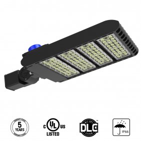 Led Parking Lot Lighting 300 Wat Street Area Shoebox Pole Light with Photocell Sensor Slip Fitter Mounting