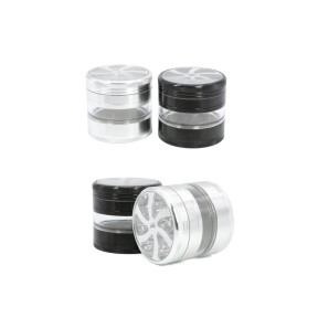 NovaBong new 4 layer alumiuum 2.5inches with third layer transparent hemp grinder